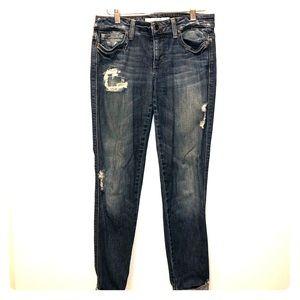 Joes Jeans - tattered dark denim